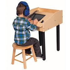 Kid Station Computer Desk Angeles Technology Tablet Table Single User Station Ang1771