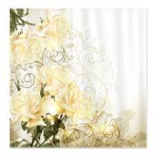 Yellow And White Shower Curtain Yellow Fabric Shower Curtain Foter