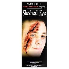 woochie slashed eye latex prosthetic halloween prosthetics uk