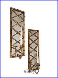 Bamboo Sconce Summer Palace Stylized Bamboo Wall Sconce Pair Candle Holder