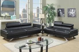 Leather Sofa Set Boyn Black Leather Sofa And Loveseat Set Steal A Sofa Furniture