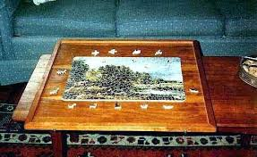 jigsaw puzzle tables portable jigsaw puzzle table the portable jigsaw puzzle board mat table matte