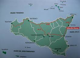 Map Of Italy And Sicily by Map Of Sicily With Main Towns Of Island Sicily Italy