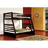 amazon com metal and wood twin futon bunk bed kitchen u0026 dining