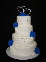 exquisite decoration royal blue wedding cake inspirational design