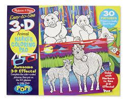 3d coloring book animals ogalala