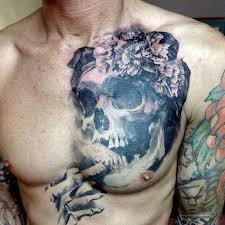 skull chest designs ideas and meaning tattoos for you