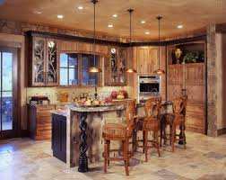 rustic kitchen island perfect match gorgeous antique and rustic kitchen lighting