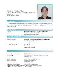 Seeking Quezon City Kristine Dabu Resume