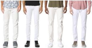 Skinny White Jeans Mens White Denim Jeans Men Oasis Amor Fashion