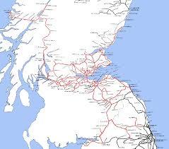 England Train Map by Lner Encyclopedia The North British Railway