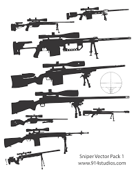 gun vector sniper rifle pack silhouettes vector pinterest