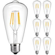 dimmable vintage edison light bulb luminwiz 4w st64 antique style