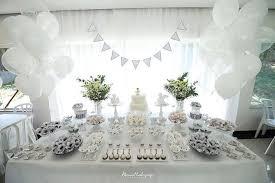 kara u0027s party ideas elegant white baptism dessert table party