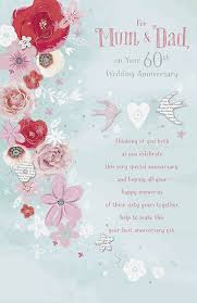 60th wedding anniversary wishes 60th diamond wedding anniversary greeting card