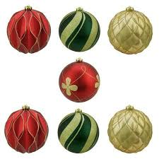 buy green and gold shatterproof ornaments 50pk in