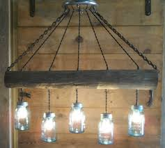 Diy Light Fixtures by Original Farm Wood Fence Post Blue Ball Mason Jar Light Fixture