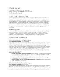english cv format public relations manager cv template