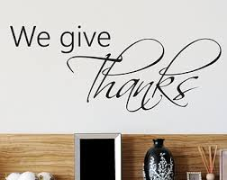 Dining Room Decals Give Thanks Decal Etsy