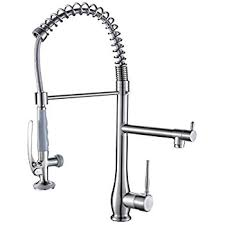 commercial kitchen faucet flg commercial style single handle pull kitchen sink faucet