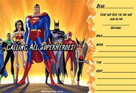 superhero birthday invitations printable free invitations ideas