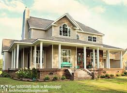 house plans country farmhouse country farmhouse with wraparound porch 16805wg architectural