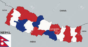 Pics Of Nepal Flag Very Big Size Nepal Political Map With Flag Stock Photo Picture