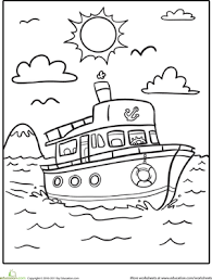 boat coloring pages education