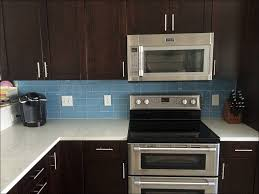 kitchen blue ceramic floor tile brown backsplash tile blue