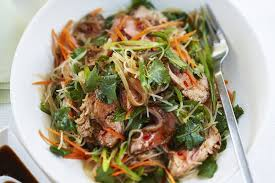 Noodle Salad Recipes Spicy Beef And Noodle Salad