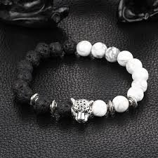 natural stone beaded bracelet images Buddha leopard head bracelet lava natural stone beaded bracelets jpg