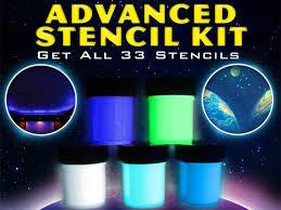 advanced star mural stencil u0026 glow paint set want great for