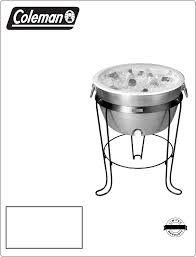 coleman stove manual coleman beverage dispenser 6151 707 user guide manualsonline com