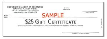 gift certificates gift certificates gift of ogunquit gift certificate 25