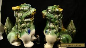 foo dogs for sale large vintage pair of ceramic foo dogs 8 1 2 for sale in