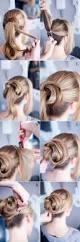 long hairstyle easy updos 2 minute elegant bun hairstyle easy updo