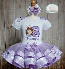 sofia the ribbon sofia the tutu set ribbon trim birthday by lilabbehandmade