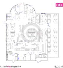 Commercial Floor Plans Free Blueprint Of A Commercial Building Made In Cad Free Stock Photos