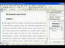 membuat novel di ms word manuscript formatting in ms word youtube