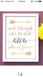 Hypolita Love Anchors The Soul - little but fierce print a great print for any little girl