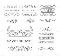 wedding ornaments decorative elements vintage ribbon frame badge