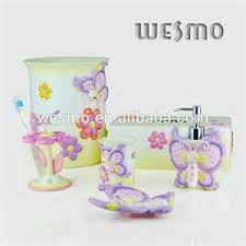home bathroom butterfly porcelain bath accessories 4 piece set