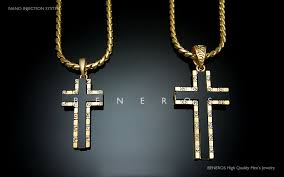 cross pendant chain necklace images High q 18k gold plated sideways cross onyx pendant chain necklace jpg
