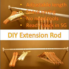 How To Extend Curtain Rod Length Diy Extension Rod Hanging Drying Rod Curtain Rod Non Drill No