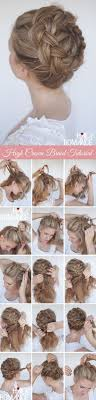 braided hairstyle instructions step by step 12 pretty braided crown hairstyle tutorials and ideas hair