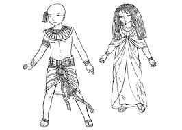 coloring page children of ancient egypt