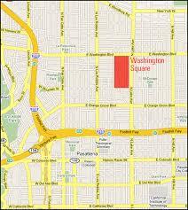 pasadena ca map neighborhood map washington square pasadena ca