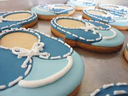 Baby Shower Supplies Store In Los Angeles Le Shoppe Baby Shoe Cookies For A Boy Baby Shower Atelier