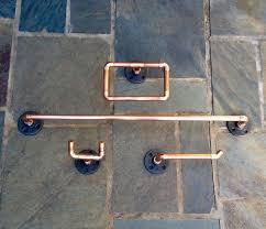 cave bathroom accessories bathroom industrial bathroom accessories set 4 pc copper pipe towel