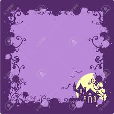 cartoon halloween background halloween background with a scary house silhouette royalty free